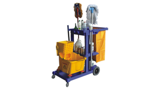 Janitor Cart Cleaning Maid Plastic Trolley