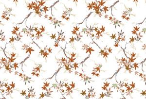 PAA-136U01-FG Coffee Maple Tree Pattern(A)(White Backing)