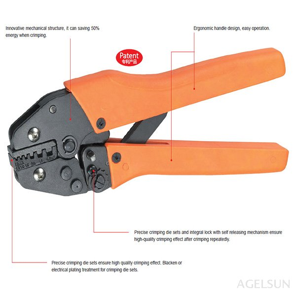1 Piece VH4-06WF 0.25-6.0mm2 Rachet Crimping Plier For Non And Insulated Ferrules