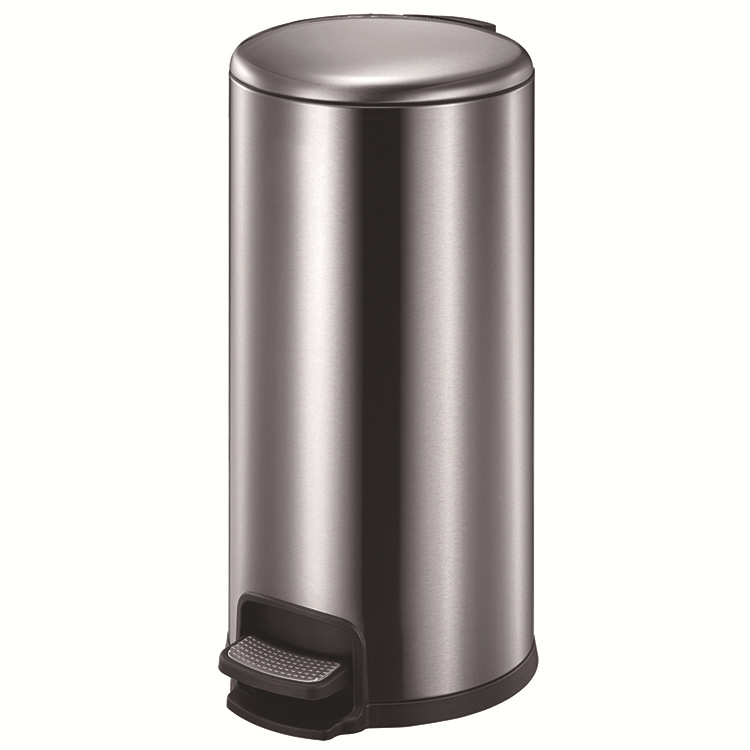 Stainless Steel Foot Pedal Garbage Bin Litter Bin Waste Container (30 L/KL-030)