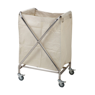 X Shaped Stainless Steel Hotel Guest Room Linen Trolley for Hospital Cleaning (FW-16)