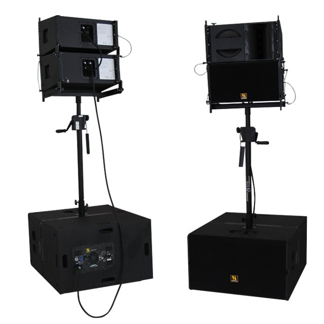 VR10 & S30 10 polegadas tops e 15 polegadas subs Powered Line Array System
