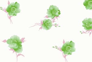 PAA-158A01-FG Light Green Golden Camellia Pattern(A)(White Backing)