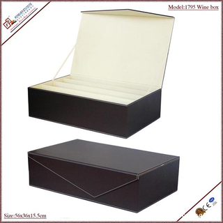 innovative chinese products folding box board wine case with four bottles deisgn