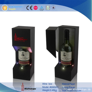 High-End Art Paper Wine Holder Box With Light