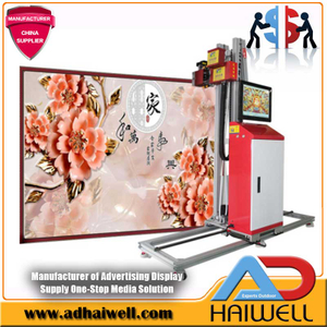 3D Wallpaper Painting Digitale UV-Inkjet-Druckmaschine