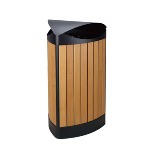Outdoor dustbin with plastic wood HW-534
