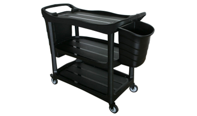 Plastic Utility Cart with Bucket for Service