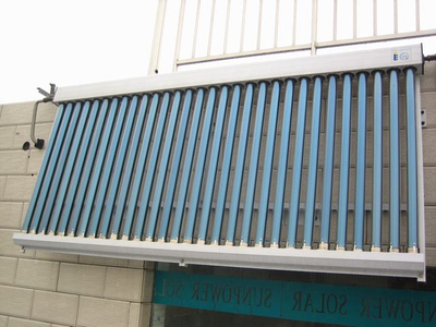 Balcony Type Heat Pipe Solar Collector with Vacuum Tube and Aluminum Frame (SPB-H58/900)