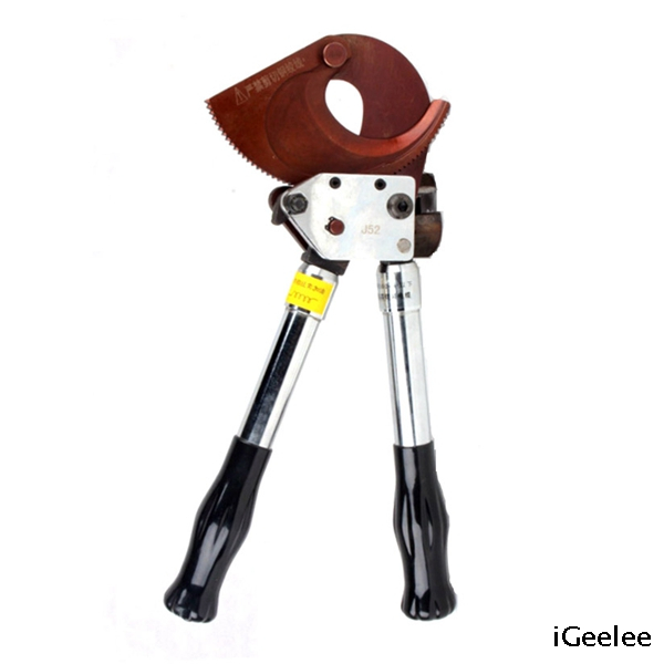 Ratchet Wire Cutter J52 for Armored Cables Use, without Crushing