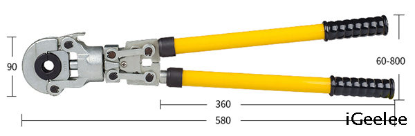 Copper Pipe Crimping Tools CW-1632 for Fittings Use,with Interchangeable Crimping Dies