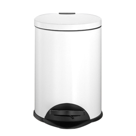 Household White Pedal Dustbin Selling Hot (KL-010A)