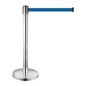 Stainless Steel Queue Stand with Retractable Belt for Supermarket