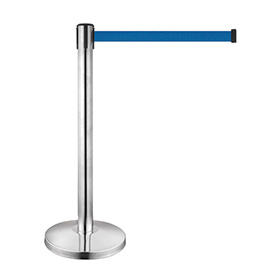 Stainless Steel Crowd Control Retractable Belt Barriers for Metro
