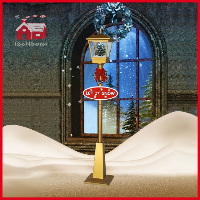 (LV180S-JJ) Modern Outdoor Christmas Lamp LED Street Lamp with Snow