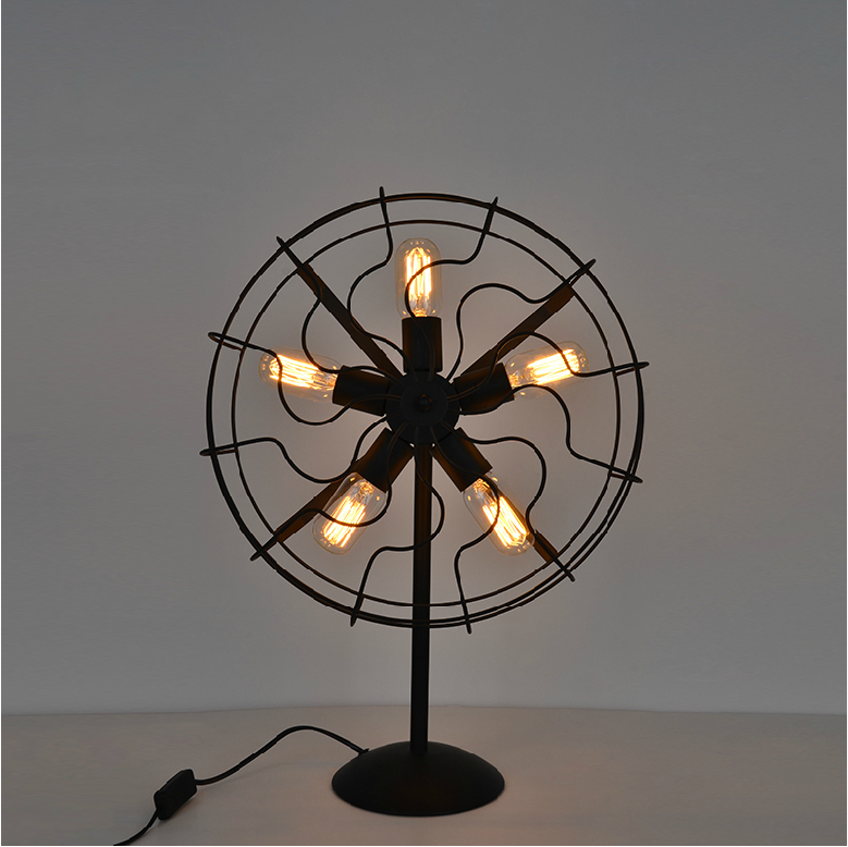 Cool Retro Style Fan Shape Bedside Table Lamp