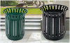 Round Outdoor waste bin with top open HW-98
