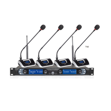 8845B Four Channels Wireless Conference Microphone