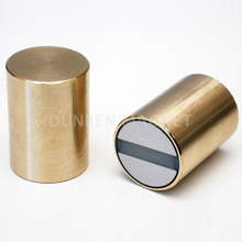 NdFeB Deep Pot Magnets, Holding Bi-pole Magnets, Bar magnets Neodymium-iron-boron with brass body , NdFeB Bi-Pole / Twin-Pole Deep Blind Ended Pot Magnet