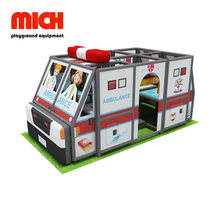 Ambulancia Car Theme Indoor Soft Mobile Playground para niños