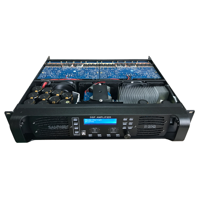 D10Q 4CH Suara Audio Digital DSP Power Amplifier dengan Ethernet