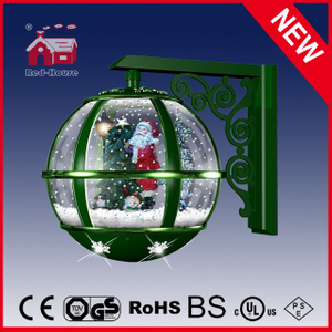(LW30033B-GG11) All Green Christmas Wall Lamp Santa Claus Decoration LED Lights