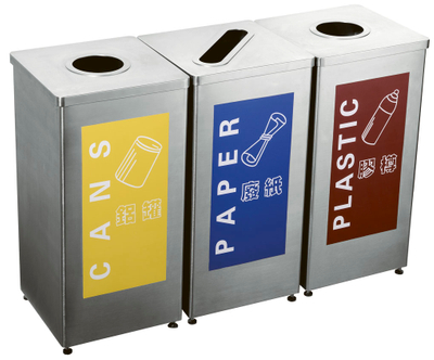 Stainlesss steel Outdoor waste can for airport HW-154