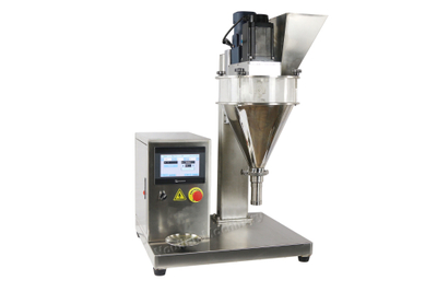 Small table Powder filling machine with weighing sensor under the disc .no additional weighing more.