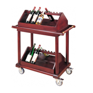 Wood Liquor Trolley for Red Wine for Restaurant (FW-31)