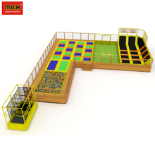 Jump trampoline with football field