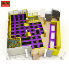 Hot Sale China-Made Rectangular Cheap indoor Trampoline Park