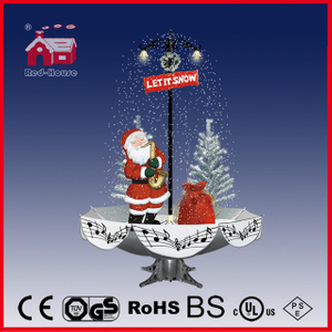 (40110U170-ST2-SM2) Snowing Christmas Decorations with Umbrella Base