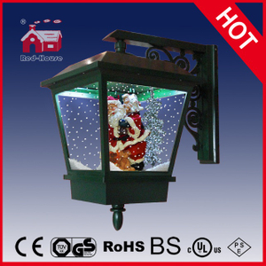 (LW40045E-G) 2016 Outdoor Lighted Snowing Wall Lamp Santa Claus Inside