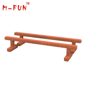 Wooden playground for toddlers