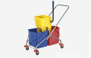Plastic Side Press Double Bucket Mop Wringer (YG-38)