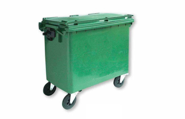 Plastic Outdoor Garbage Cart Waste Container (KL-109)