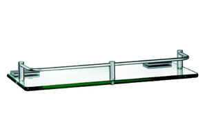 Rectangle Aluminum Bathroom Corner Glass Shelf (ZW-525)