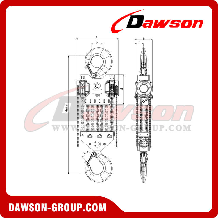 DS-DF-B 15T 20T 30T Chain Hoist, Chain Block for Lifting Goods