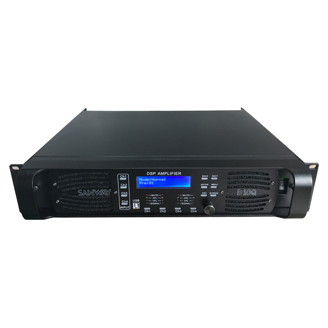 D10Q 4 saluran penguat daya DSP 10000 watt