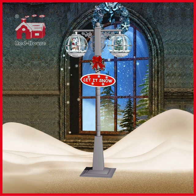 (LV30188ES-WSS11) Christmas Tree Santa Claus Decoration Street Light with LED