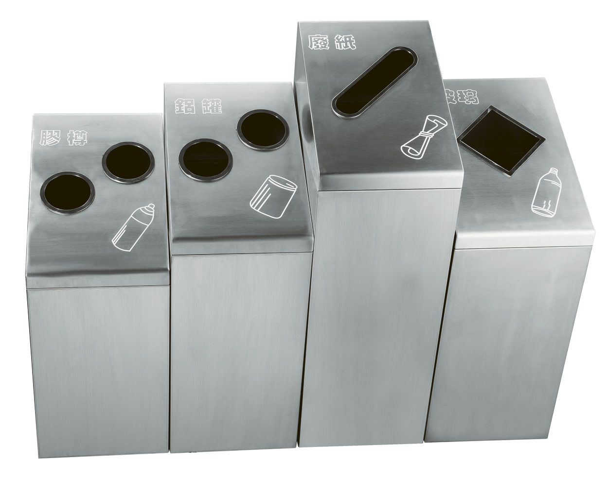 Stainless steel Outdoor waste can for four side HW-162