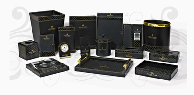 Professional Room Leather Accessories Set