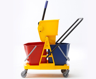 2-Bucket Wringer Trolley with 46L Capacity (YG-073)