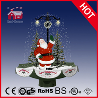 (118030U075-ST3-GS) Snowing Christmas Decorations with Umbrella Base