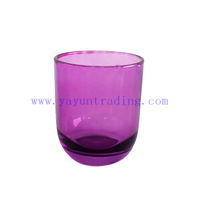 180ml Glossy Purple Glass Candle Jar