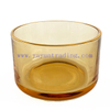 650ml 21oz empty amber luxury glass candle jars for candle making