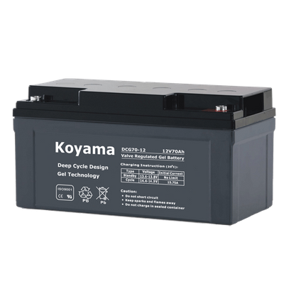 12V70AH Deep Cycle Gel Battery DCG70-12