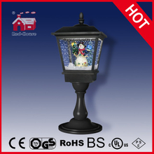 (LT27064L-H) Best Christmas Gifts Black Tabletop Lamp with Snowman