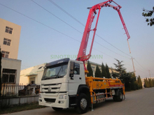 SINOTRUK HOWO Mobile Mounted Concrete Mixer Pump Truck