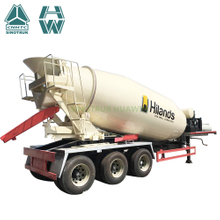 HOWO 2 Axles 3 Axles Concrete Mixer Semi Trailer